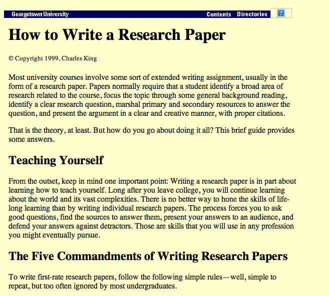 Five Commandments For Writing A Good Research Paper Short Article