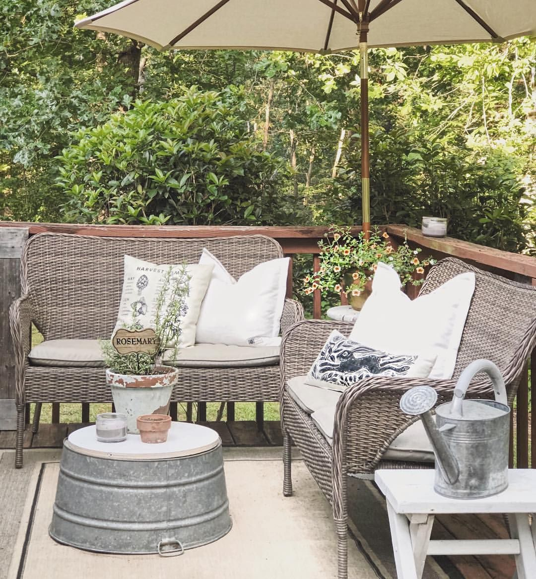 galvanized tub coffee table outdoor furniture sets on modern farmhouse patio furniture coffee tables id=64174