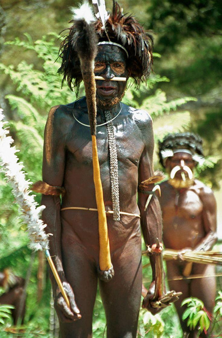 Papua West Papua Dani Man Wearing A Traditional Koteka Johan