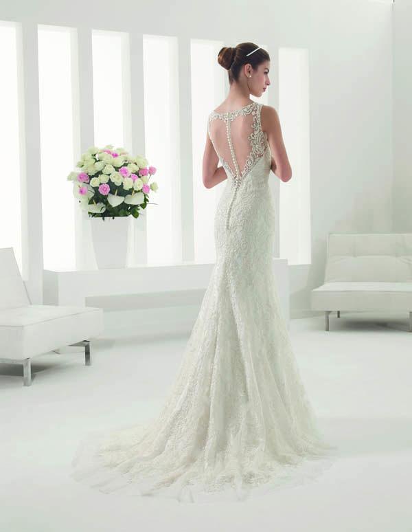 vestido de novia modelo palco de alma novia | encaje y pedrería