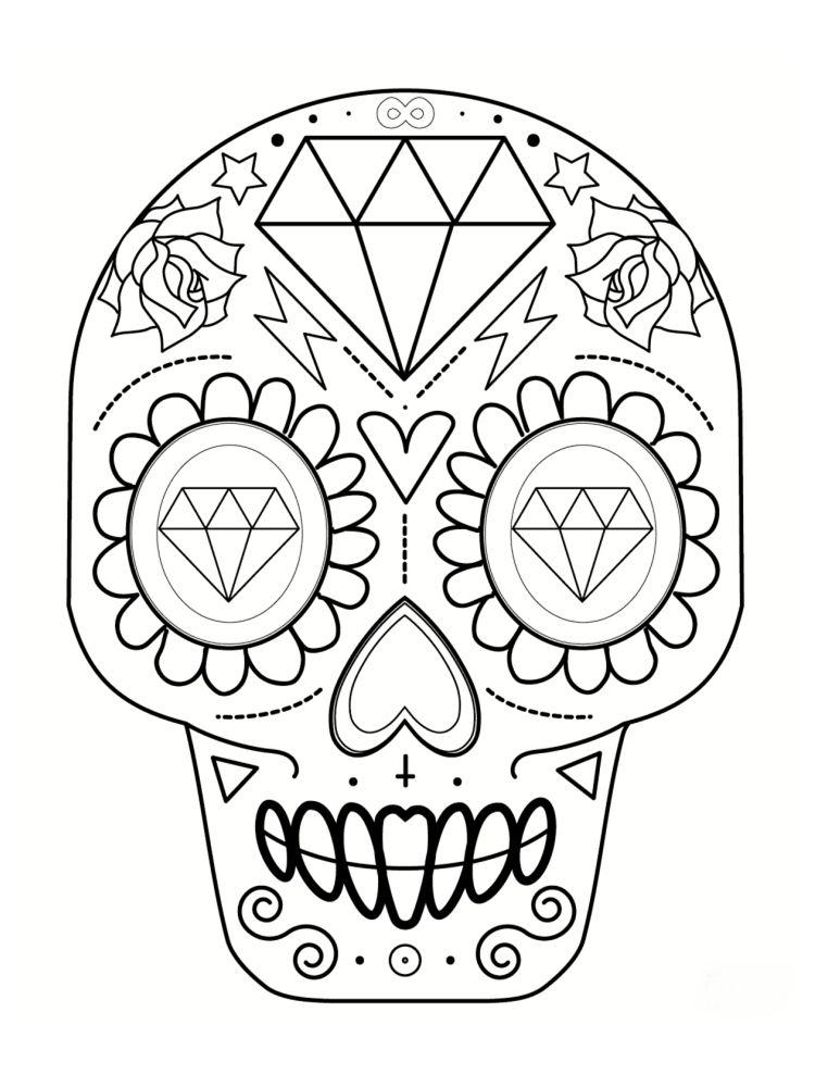 Coloriage Tête De Mort Mexicaine 20 Dessins à Imprimer Bricolage