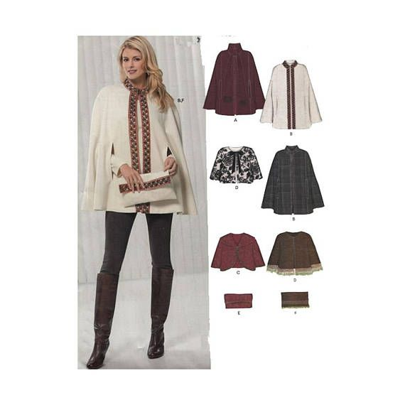 UNCUT New Look Sewing Pattern 6916 Easy to Sew Capes Capelets and ...