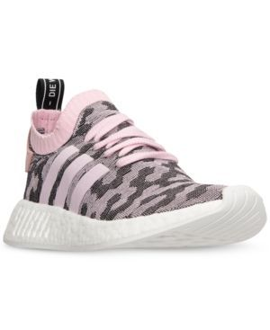 8241f2565df57 adidas Women s Nmd R2 Primeknit Casual Sneakers from Finish Line - Pink 7.5