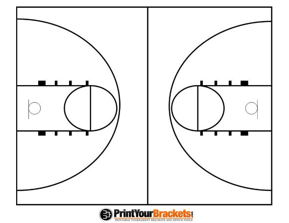 photograph about Printable Basketball Court referred to as Printable Basketball Court docket Diagram printables inside of 2019