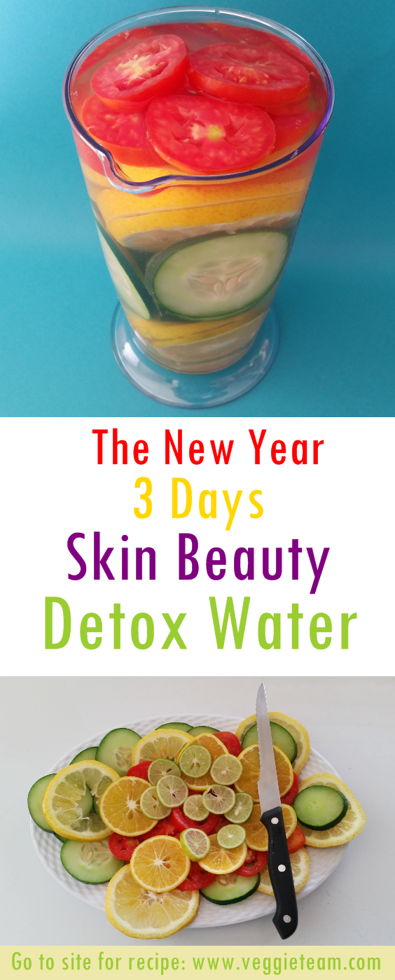 The New Year  Days Skin Beauty Detox Water  Beauty detox Healthy