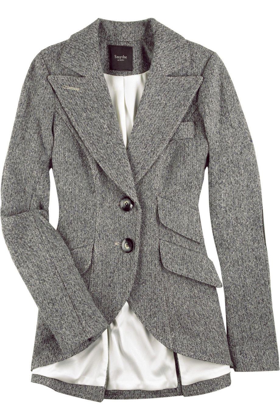 Smythe Herringbone Equestrian Jacket Net A Porter Com Stylehive Fashion Smythe Blazer Clothes [ 1380 x 920 Pixel ]