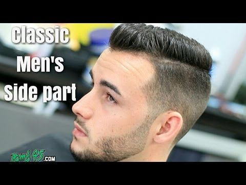 Classic Mens Side Part HAIRCUT TUTORIAL! with Beard Trim ...