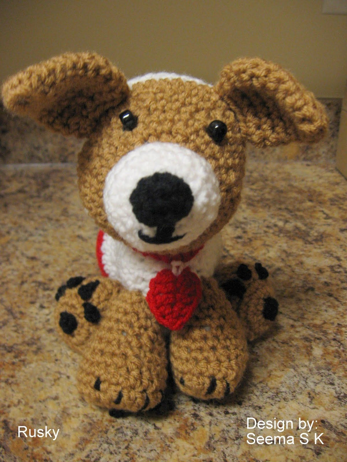 Free Crochet Puppy Pattern Cute Puppies Pinterest Free Crochet