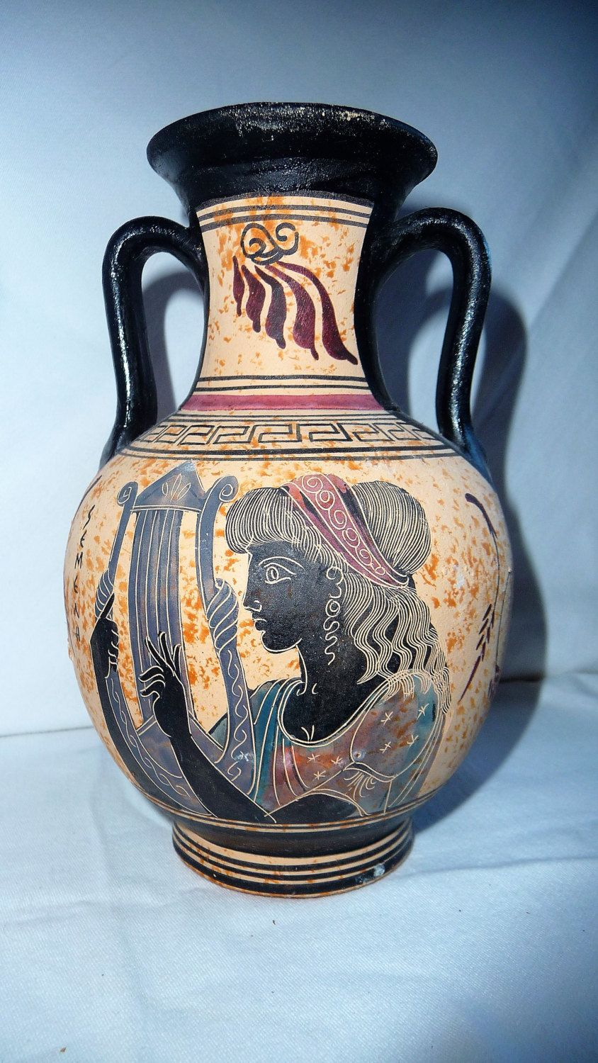Vintage greek pottery ancient ceramic vase semeli the mother of vintage greek pottery ancient ceramic vase semeli the mother of dionysos amphora shape vase greece reviewsmspy
