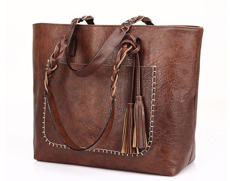 93fb3ff11fda Big Discount Vintage Handbag Women Brown Leather Shoulder Bag Ladies Retro  Tote Large PU Handbags bolso