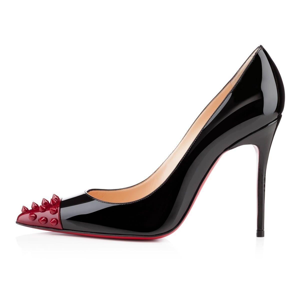 nouvelle collection fff11 6feb6 Chaussure Louboutin Pas Cher Geo Pump Vernis 100mm Noir1 ...