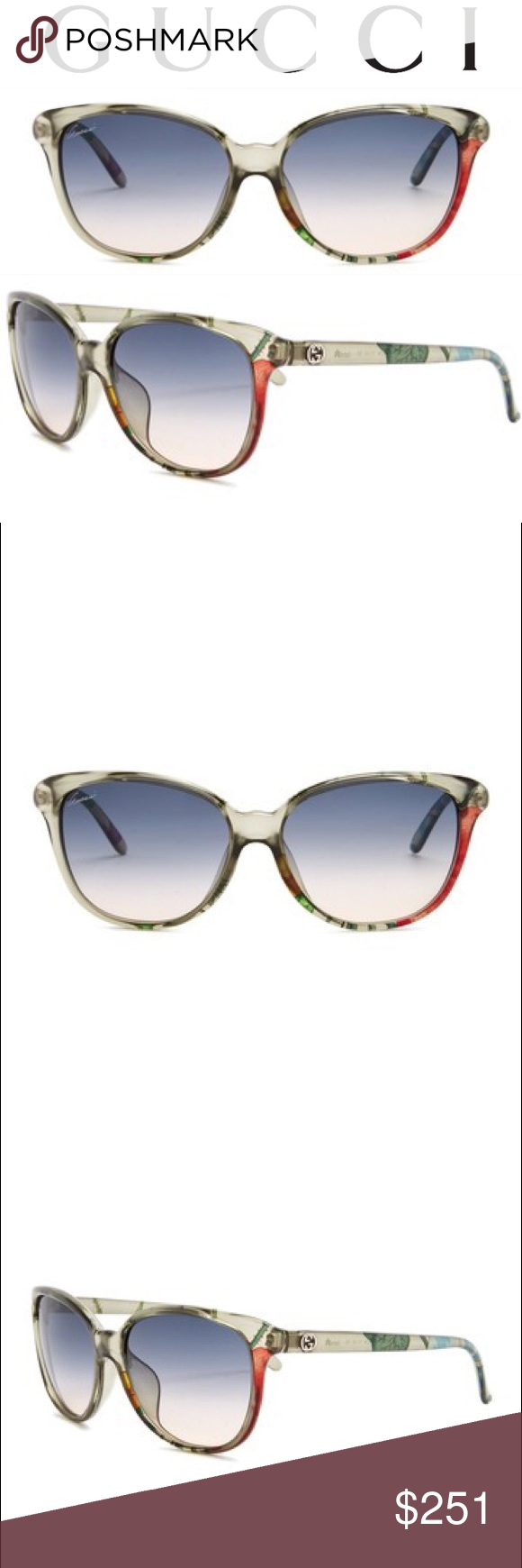 061bbba6679 GUCCI Women s Cat Eye Frame Sunglasses 💕 AUTHENTIC. Brand new in  packaging. Details