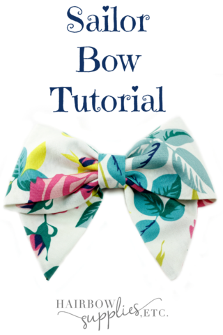 Sailor Hair Bow Tutorial
