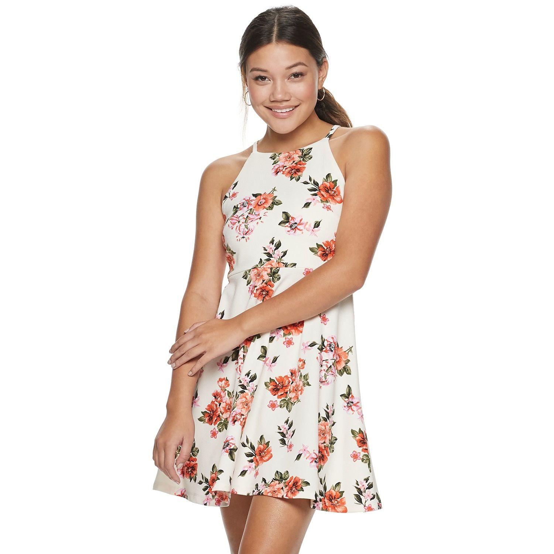 Juniors Almost Famous High Neck Skater Dress In 2020 Skater Dress Dresses Almost Famous [ 1500 x 1500 Pixel ]