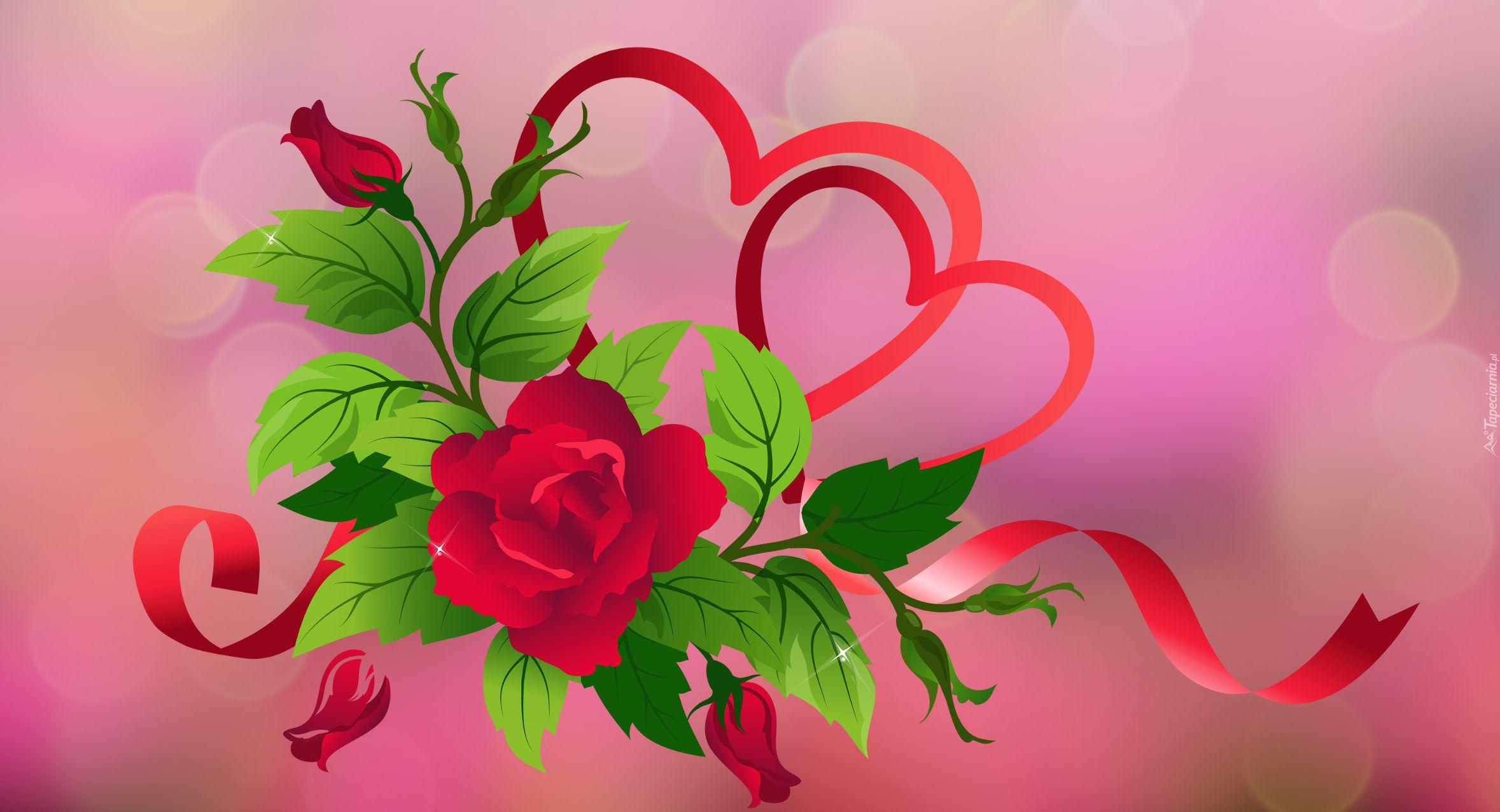 Https Www Tapeciarnia Pl Tapeta Graficzna Roza I Serca Neon Signs Neon Wreaths