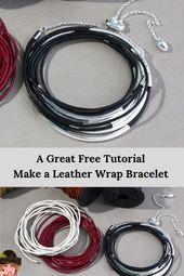 Photo of Leather Wrap Bracelets to make with this Best Free Tutorial  Tutorial für schö…