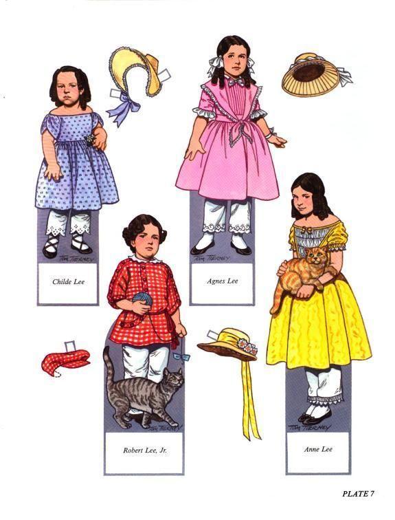 Robert E. Lee and his Family - Nena bonecas de papel - Álbumes web de Picasa