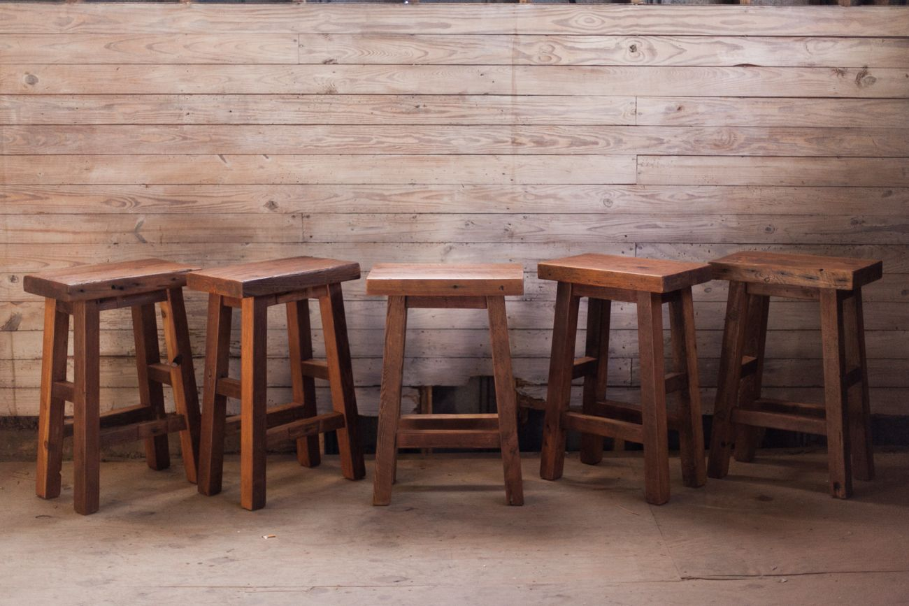 Wondrous Reclaimed Wood Bar Stools Diy Furniture Projects Wooden Download Free Architecture Designs Grimeyleaguecom