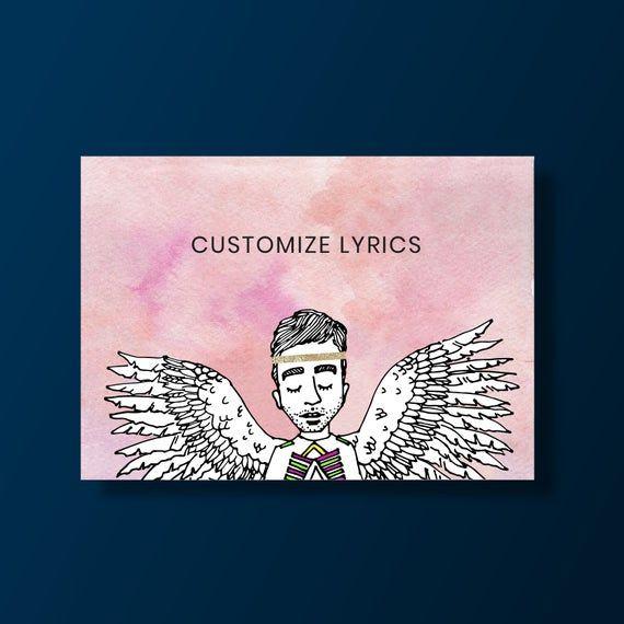 Sufjan Stevens Watercolor Painting Print - Custom Lyrics Pink - Gift For Sufjan Fan Sufjan Stevens Watercolor Painting Print - Custom Lyrics Pink - Gift for Sufjan Fan Pink Things pink color lyrics