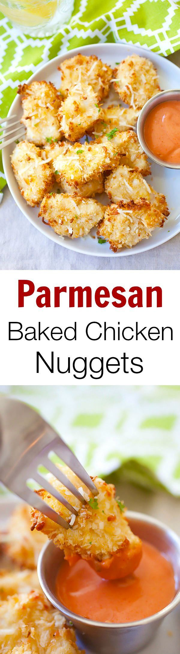 Parmesan Baked Chicken Nuggets Easy Chicken Nuggets With Real Chicken And No Deep Frying