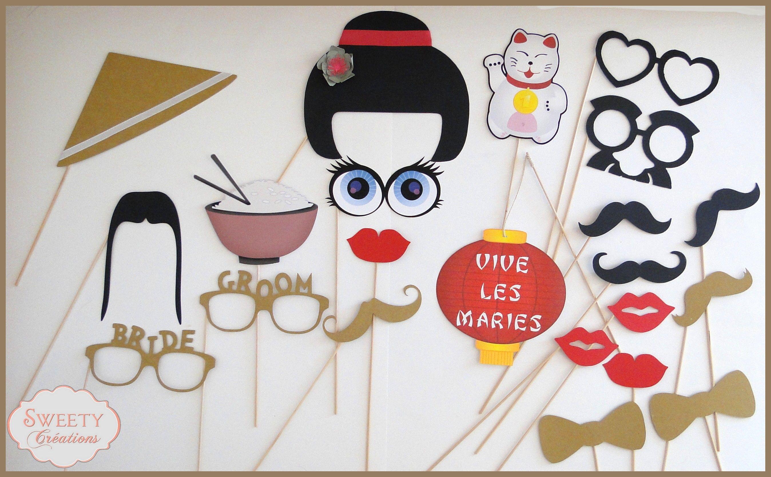 Kit Photobooth Theme Asie