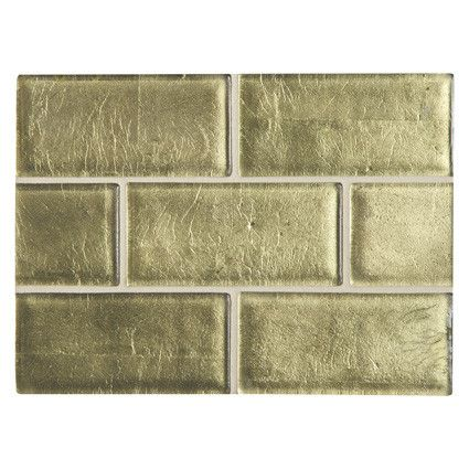 Glamorous Reflectivity Of Real Gold Incorporated Into Each Tile A Stunning Backsplash Or Bathroom Shower Complete Collection Mi