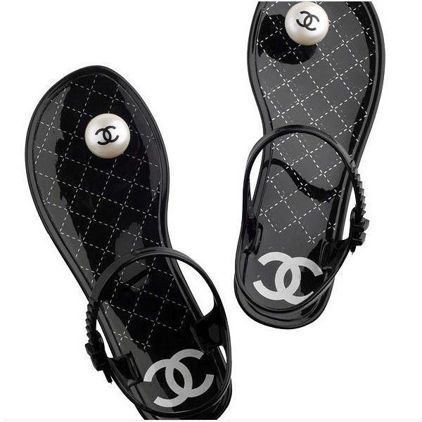 Jelly sandals, Shoes, Chanel sandals
