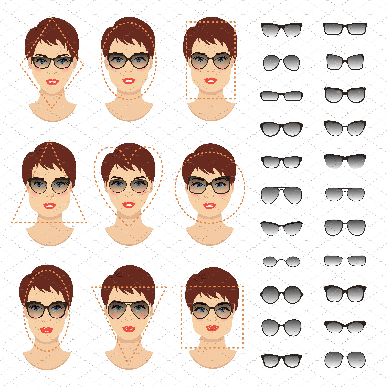 Woman Oncreativemarket FacesBy Sunglasses Shapes9 Cheremuha 7y6Ybfgv