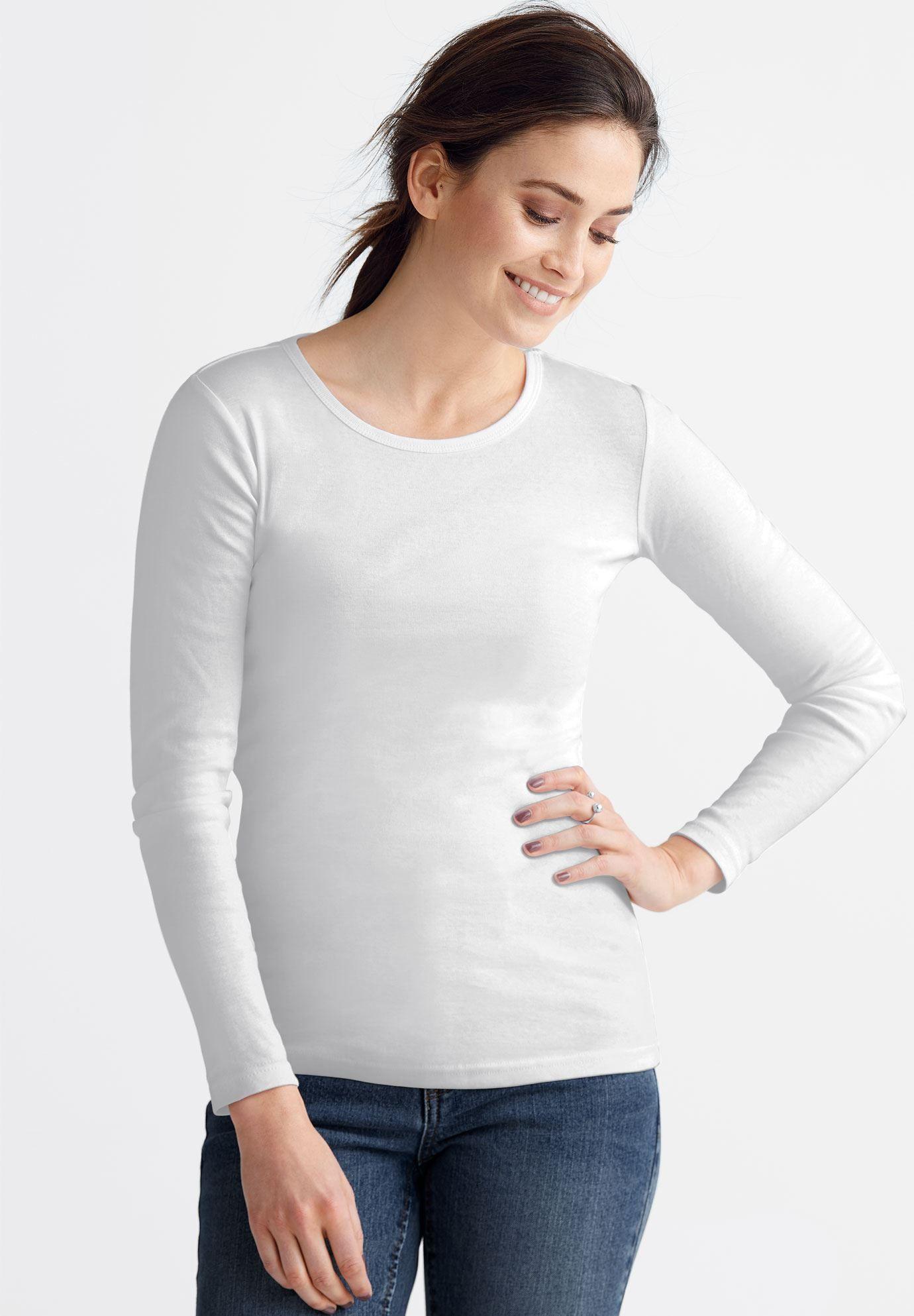 faca4944b4b White Long Sleeve Plus Size Dress
