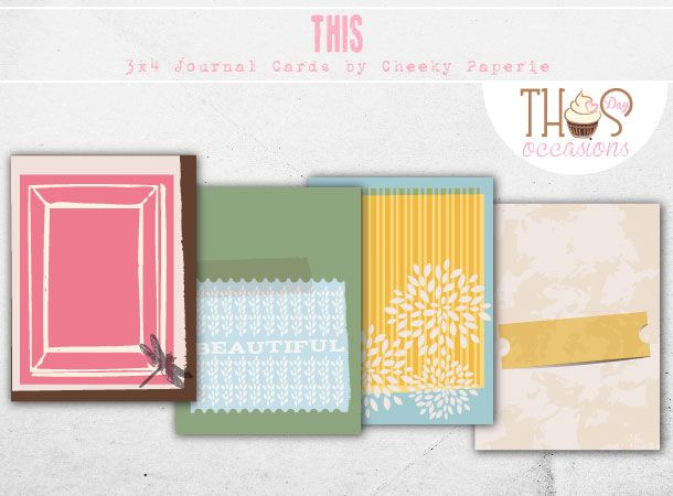 Eight printable vintage themed digital journaling cards for Project Life or other pocket style scrapbooking albums. Simply print and cut out!  $3.50