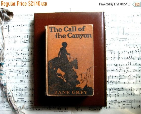 Zane Grey The Call of the Canyon 1924 Vintage by KSTigerlily
