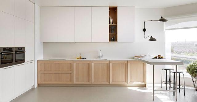 cocina-blanca-y-madera | Kitchen | Pinterest | Cocina blanca ...