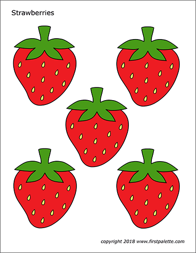 Strawberry Free Printable Templates Coloring Pages Firstpalette Com Strawberry Crafts Printables Free Kids Strawberry Pictures