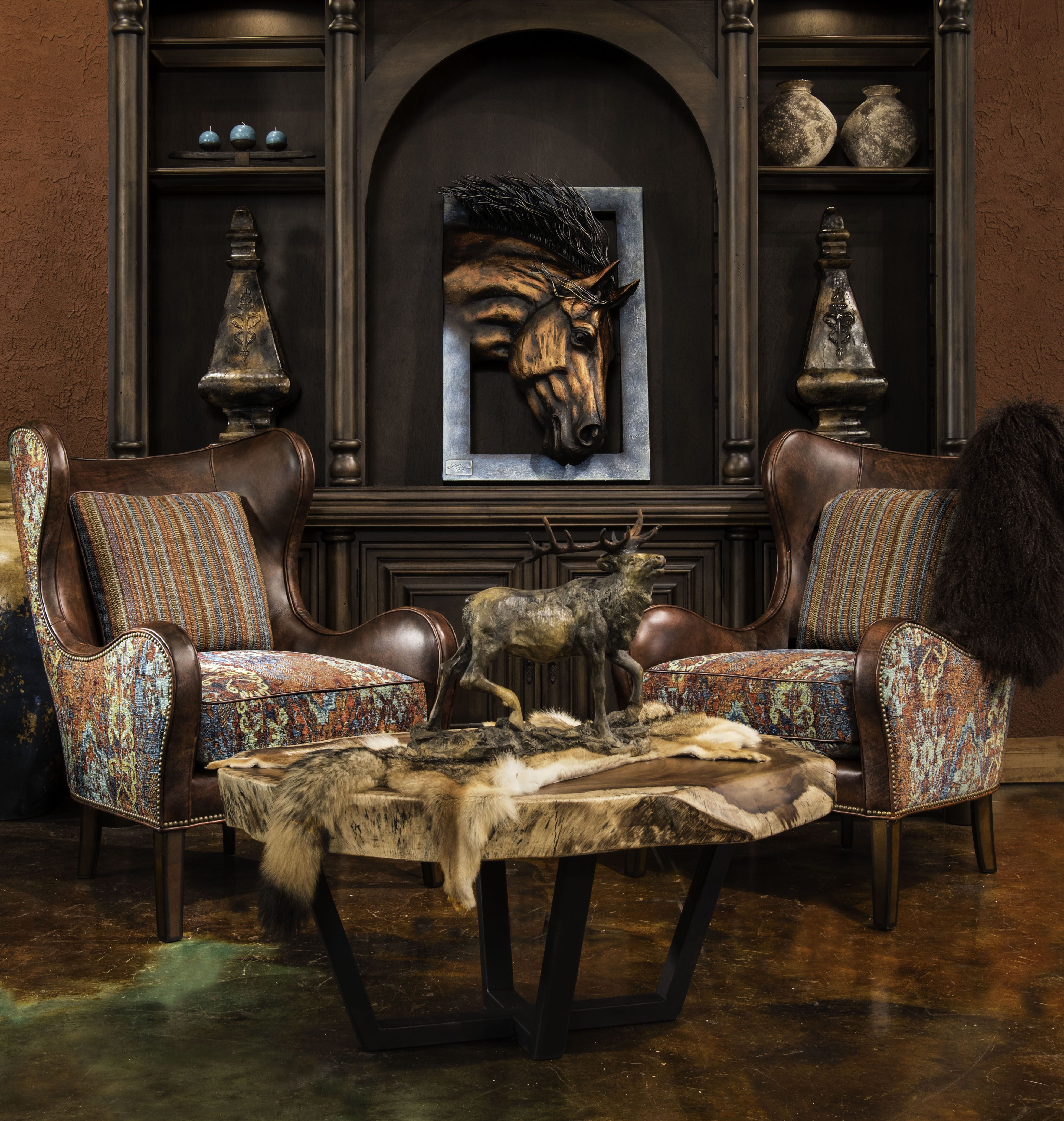 "Elegant Office Furniture Rustic Elegant Living Room: Whether You Prefer ""home On The Range"" Or ""out On The Town"