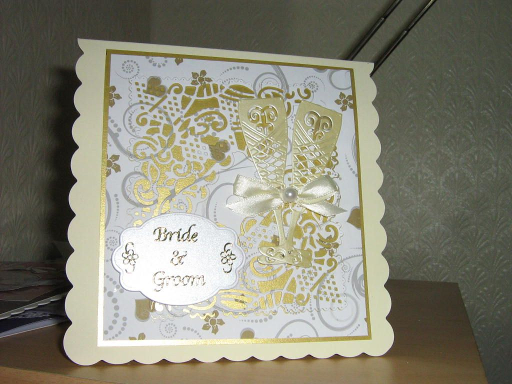 wedding card using tattered lace dies  wedding cards