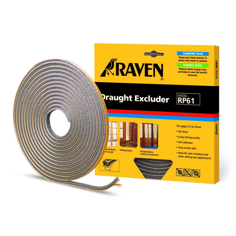 Raven 5m Draught Excluder Door And Window Seal Rp61 Draught Excluder Window Seal Weather Stripping