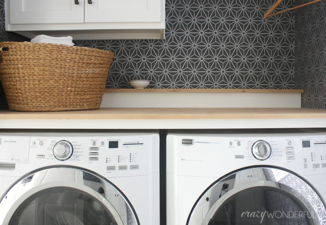 Diy Built In Washer Dryer Laundry Room Countertop Washer Dryer Laundry Room Design