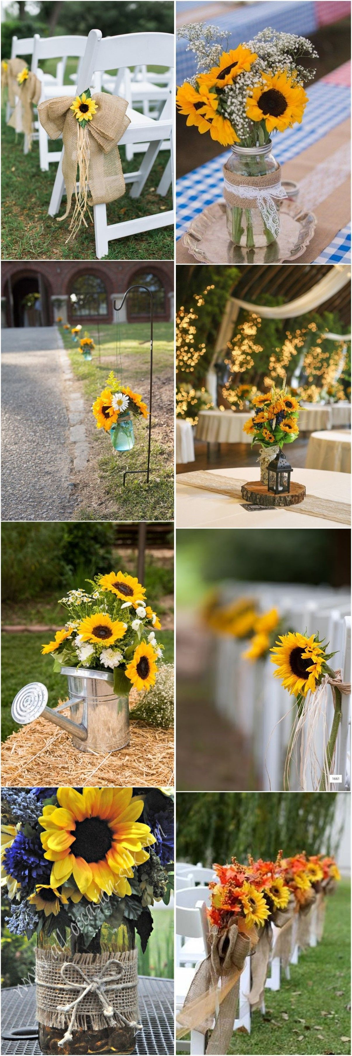 Pin by Angela on Wedding Sunflower wedding decorations