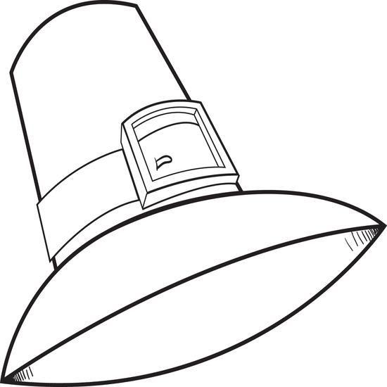 Free Printable Pilgrim Hat Thanksgiving Coloring Page For Kids
