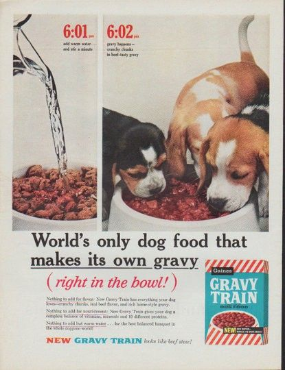 1961 Gravy Train Dog Food Ad Quot World S Only Dog Food Quot Old