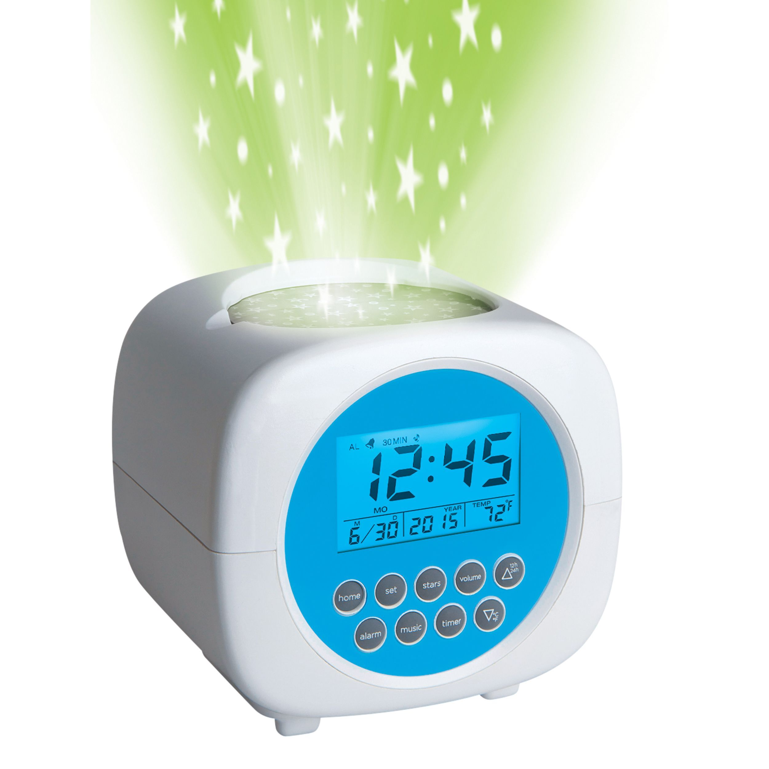 Light Up Your Room With The Disery Kids Sound Machine Projection Alarm Clock This