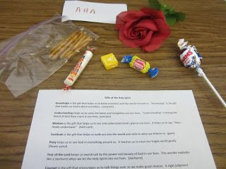 Gifts Of The Holy Spirit Activity Candy That Represents