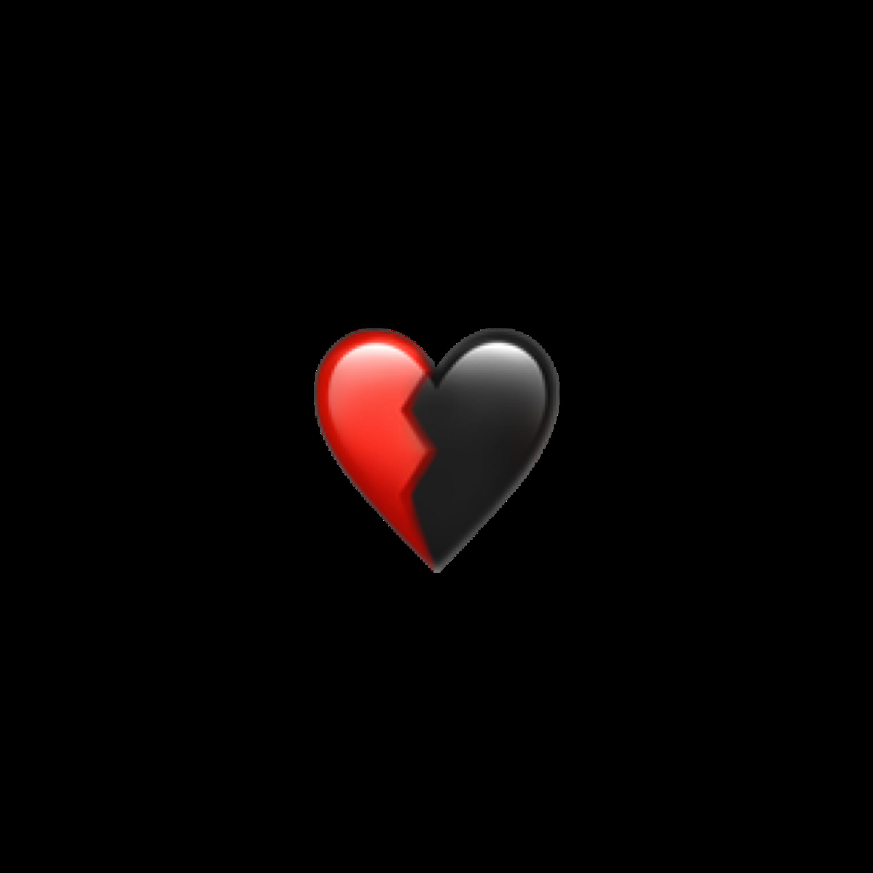 Broken Brokenheart Emoji Iphonesticker Iphone Iphoneemoji Black Red Freetoedit Remixit Cute Emoji Wallpaper Emoji Wallpaper Cute Emoji