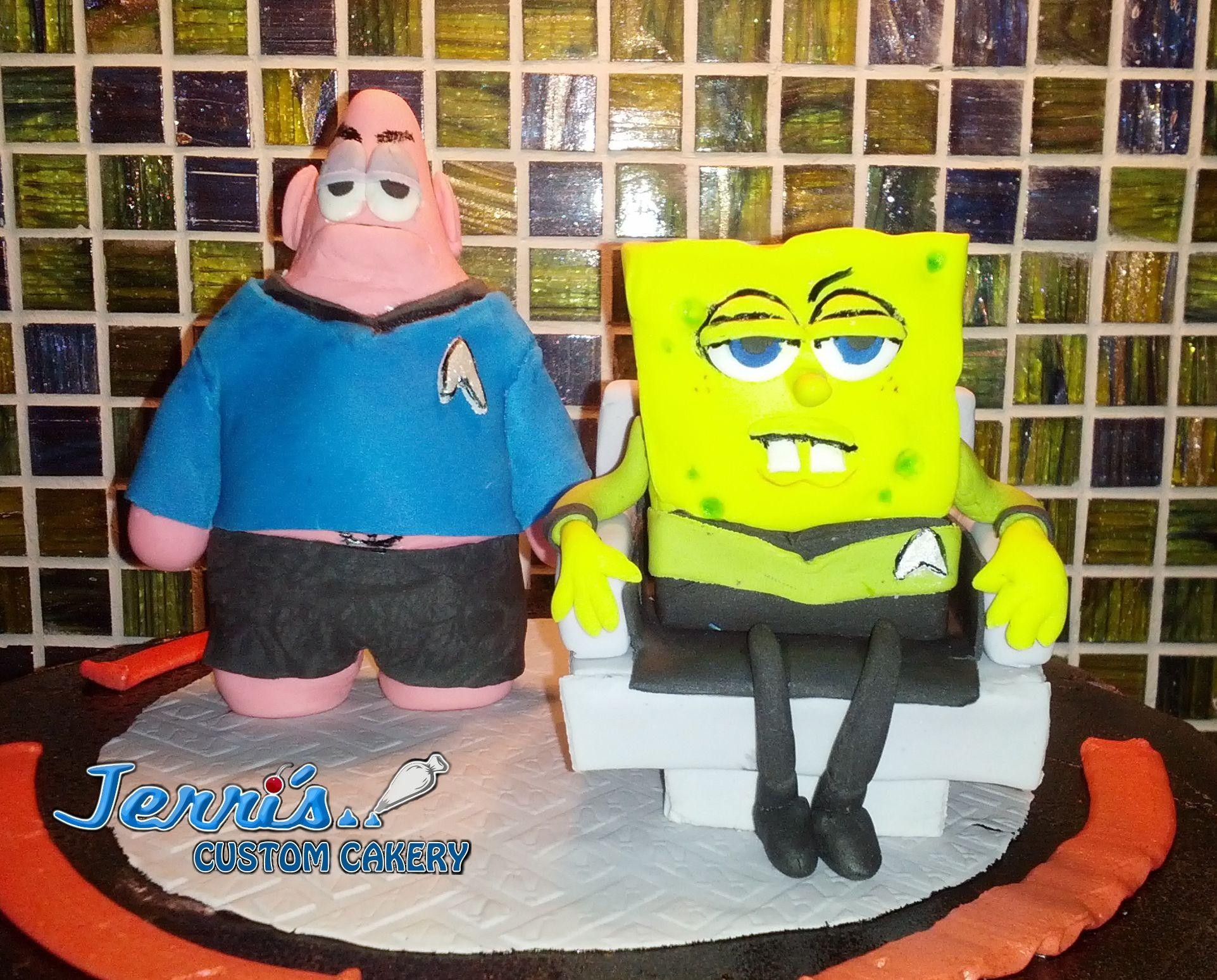 Captain Spongebob T Kirk and Spocktric, because sometimes ...