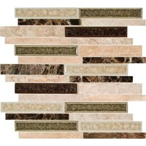 Ms International Stonegate Interlocking 12 In X 12 In X 8 Mm Glass Stone Blend Mesh Mounted Mosaic Wall Tile
