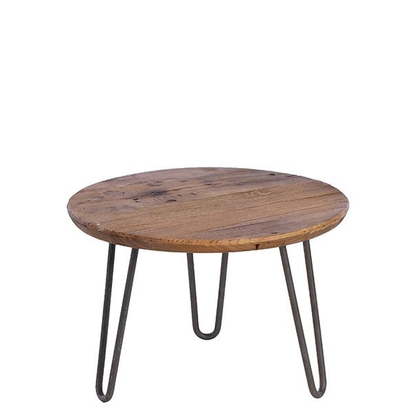 Greenwich Reclaimed Wood Round Coffee Table Barker And Stonehouse Dreamstoryhome