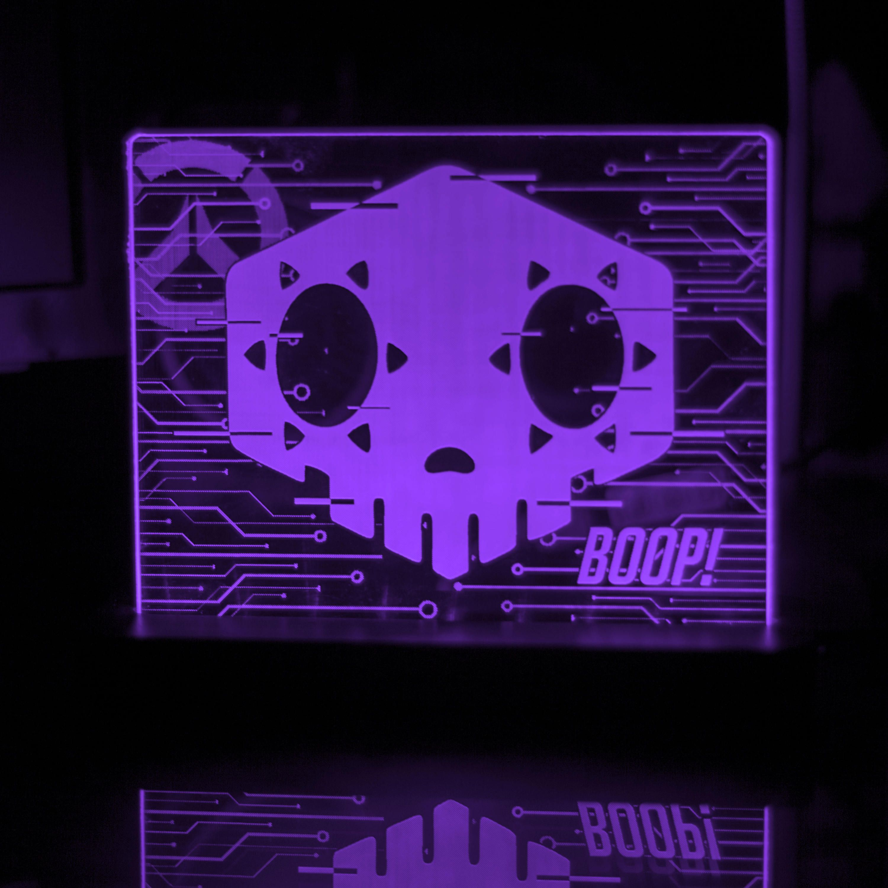 Overwatch Sombra Acrylic LED light sign, led display sign