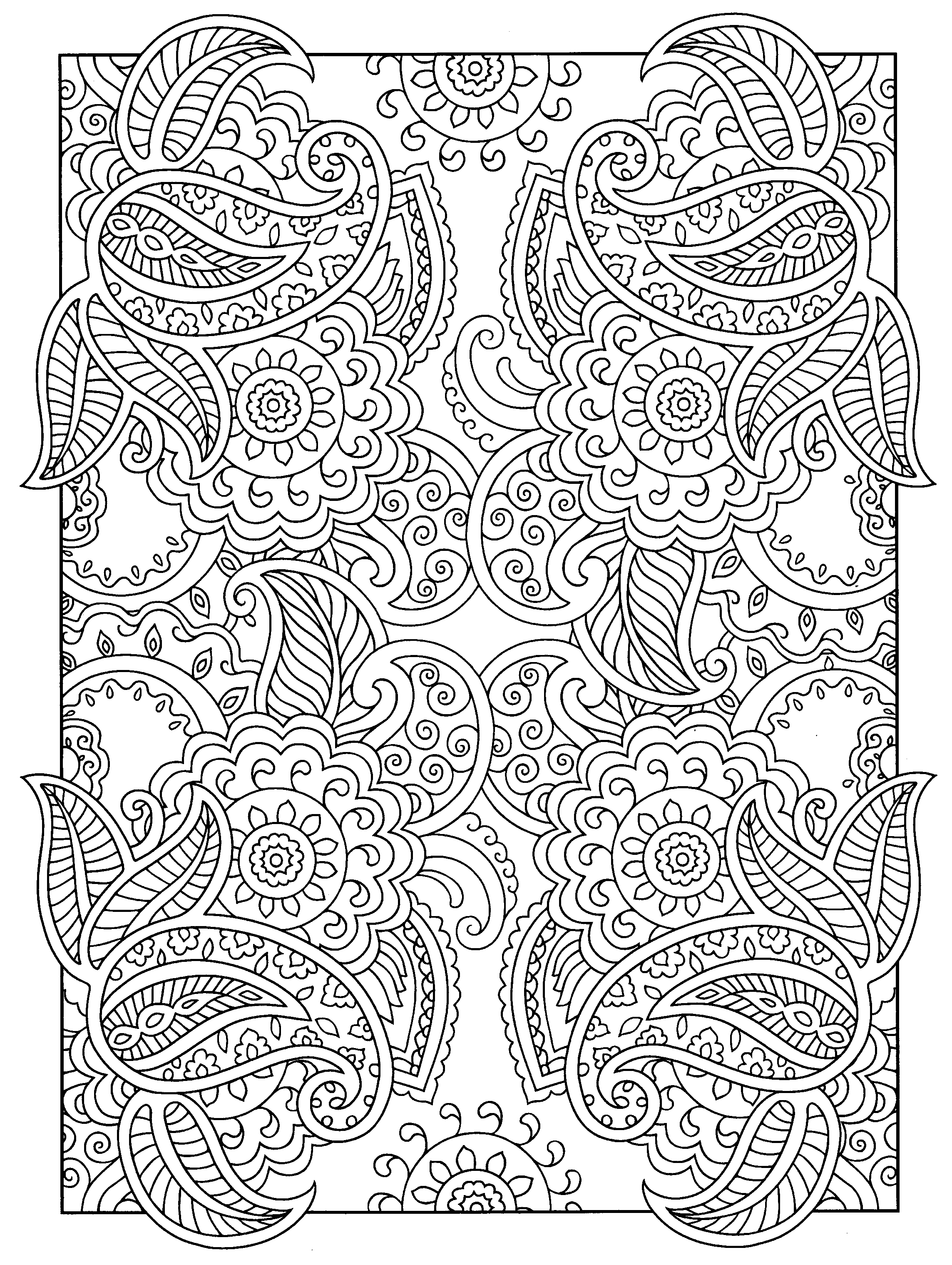 A Favorite From Mehndi Designs By Marty Noble Designs Coloring Books Coloring Pages Mandala Coloring Pages