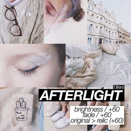 After light | Afterlight filters | Vsco filter, Afterlight