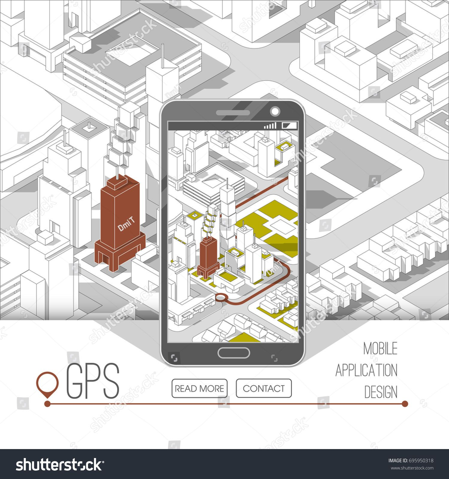 Mobile gps and tracking concept  Location track app on